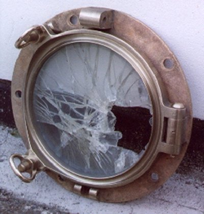 Cleaned Porthole from Port Bow plating