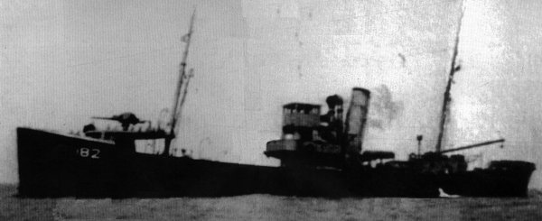 Photo of vessel during wartime